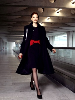 air france flight attendant uniforms - of course it would be so stylish. (wonder if the coat is part of it)