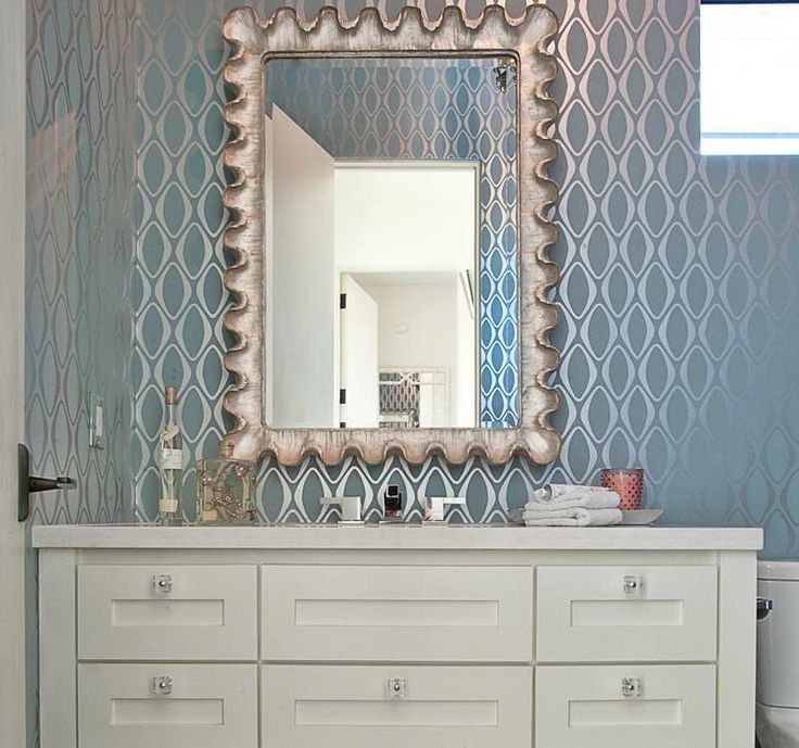 Powder Room Decorating Ideas With Blue Wall