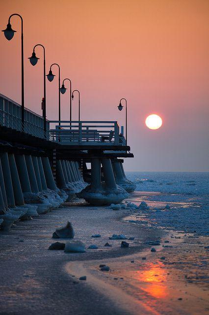 A pier in Orlowo, Gdynia
