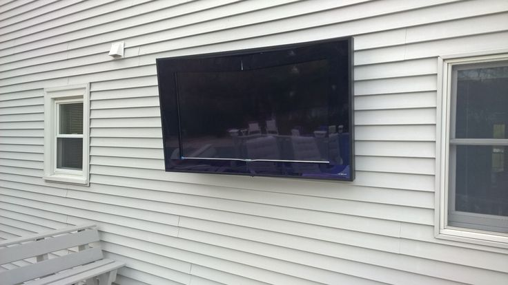 Year-round weather proof outdoor TV installation. Works great on decks and patios in all types of weather and temperatures.
