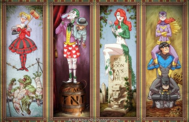 Haunted Mansion/Arkham Asylum by Abraham Lopez and perhaps one of the coolest things I've seen ever.