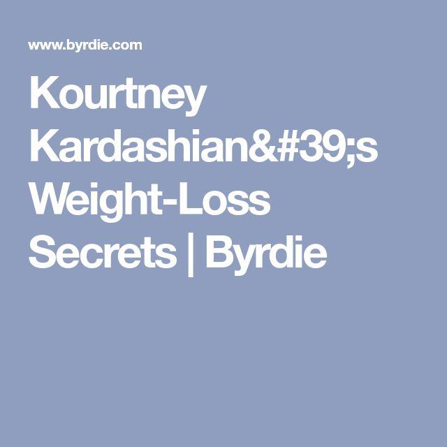 Kourtney Kardashian's Weight-Loss Secrets | Byrdie