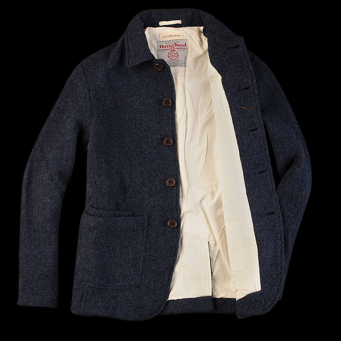 unionmade universal works harris tweed bakers jacket in blue men in good clothes pinterest. Black Bedroom Furniture Sets. Home Design Ideas