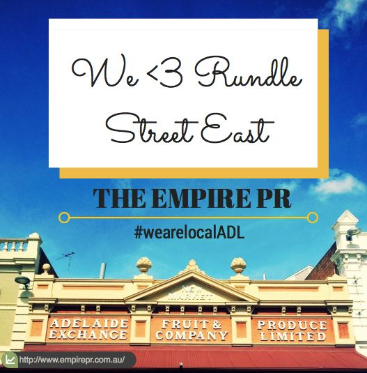 We love that our office are in Rundle St East.   #wearelocalADL #empirepr #southaustralia #adelaide #australia