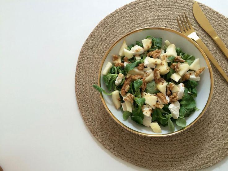Ideal Salade ch vre m che pomme et vinaigrette au sirop d uagave