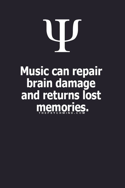 Music can repair brain damage and return lost memories.