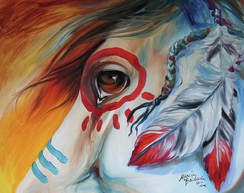 War horse eye Marcia Baldwin