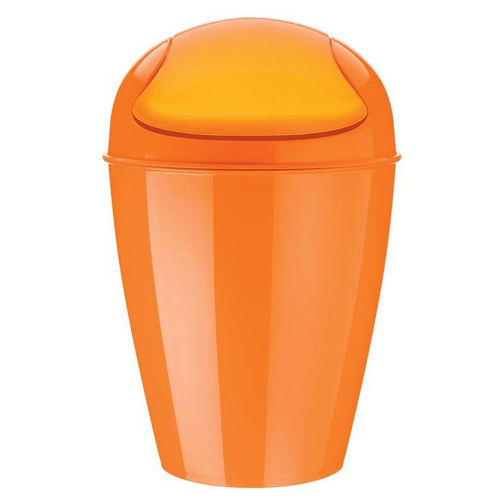 Schwingdeckeleimer DEL, orange (M) - Koziol #wastebin #dustbin #trash #garbage #waste #bin