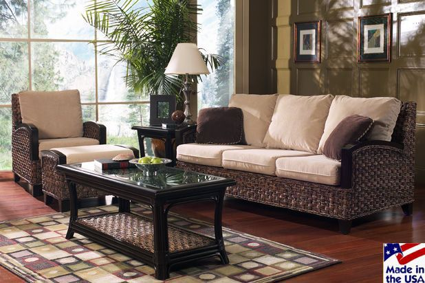Classic Rattan Innisbrook Rattan And Wicker Sunroom Set