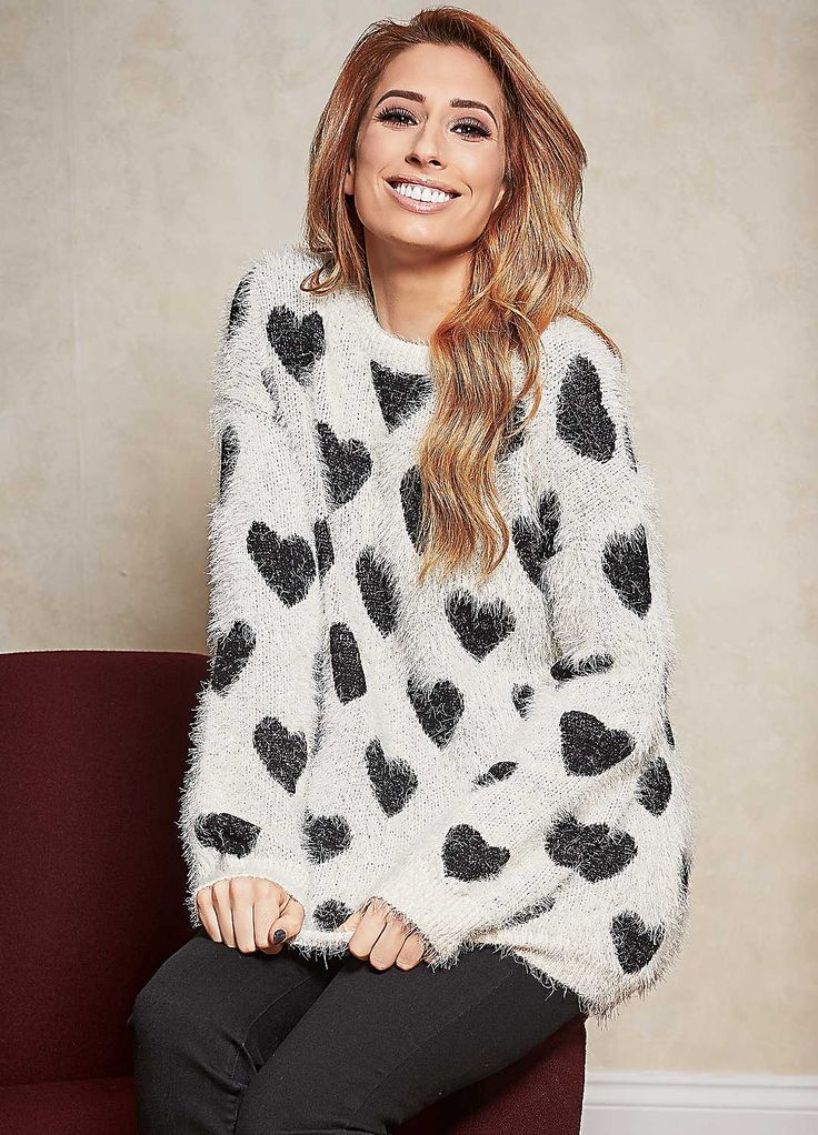 Fluffy Heart Jumper by Stacey Solomon