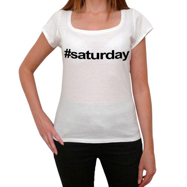 saturday Hashtag Women's Short Sleeve Scoop Neck Tee