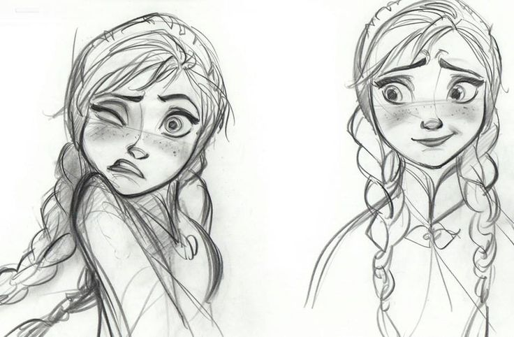 Disney Frozen Anna Sketches Details - Concept Art ...