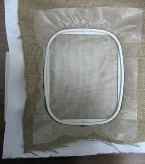 I've seen a lot of embroidery designs on Burlap lately. Here's how to embroider on burlap. Embroidery Library - Machine Embroidery Designs Inspired Project Page