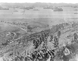 Gallipoli leaving the ships for Hell !!!