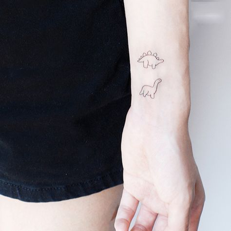 25 best dinosaur tattoos ideas on pinterest detailed for Minimalist dinosaur tattoo