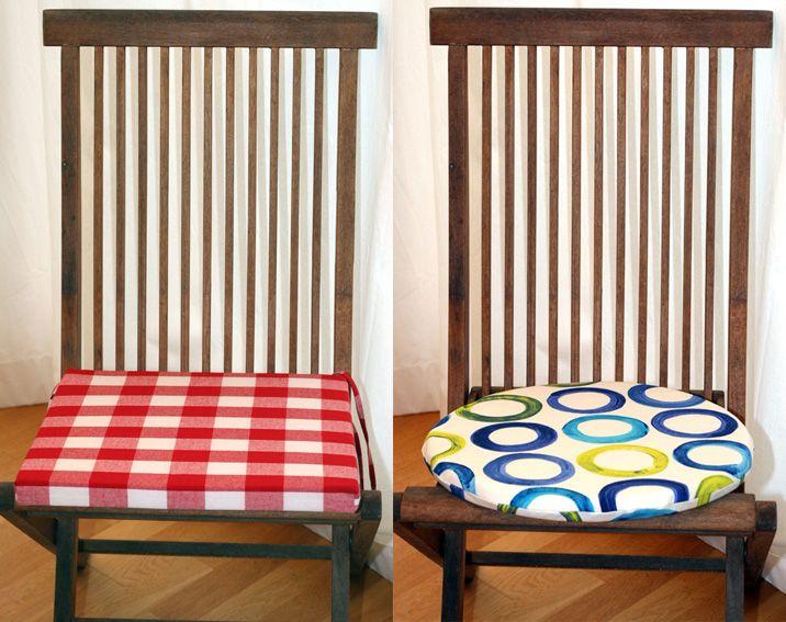 Tolle Sitzkissen, rund oder quadratisch, viele Stoffe zur Auswahl, von WOHNKLEID