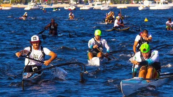 canoa havaiana (Foto: Gilmar Domingos de Oliveira / Divulgação Evolutions Eventos)