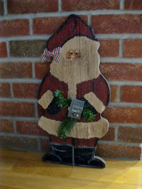 74 Best Images About Santas On Pinterest Primitive Wood