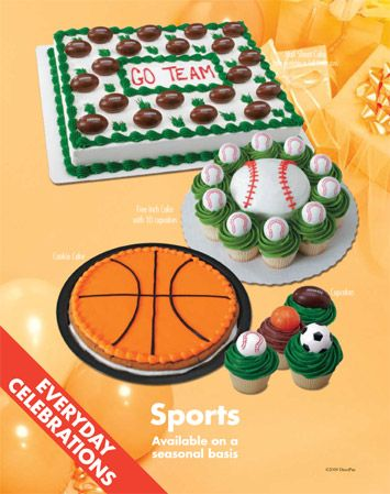 Sports Themed Cakes And Cupcakes From Sam S Club 30 Cupcakes For