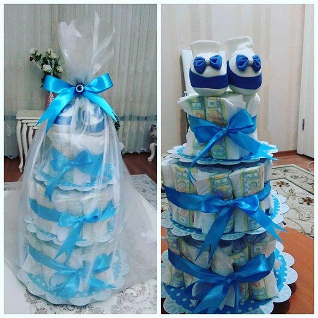 Arkadaşıma bebek ziyaretine giderken yaptığım bez pastası 😍😍 Yenidoğan ziyareti ve babyshower partisi için güzel ve şık bir hediye... #bebekhediyesi #bebeksüsü #bebekbezi #bebekbezipastasi #bezpasta #bezekulesi #hediyelikler #hediye #bebekgorme #bebekalisverisi #bayboy #babygirl #babyshower #kızbebek #erkekbebek #babys #babyshop