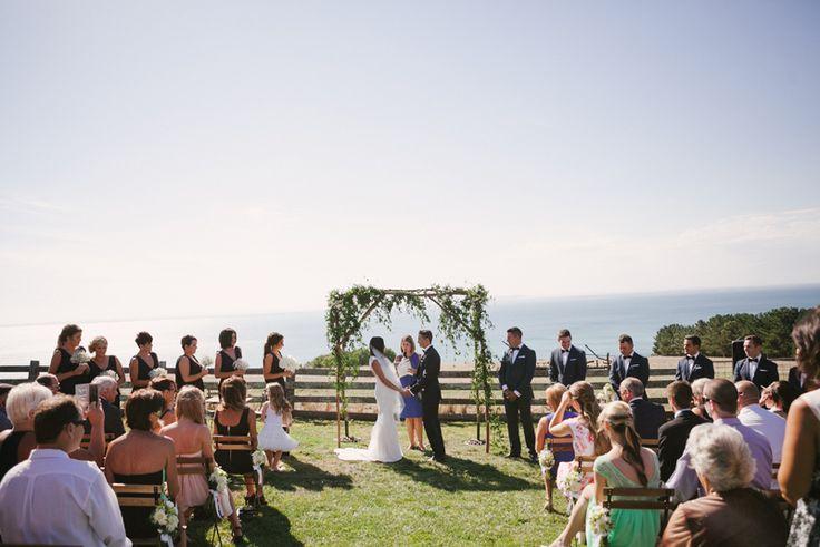 What a backdrop! Whitney + Cody | Jack Rabbit Vineyard Wedding by Kristen Cook //  www.kristencook.com.au