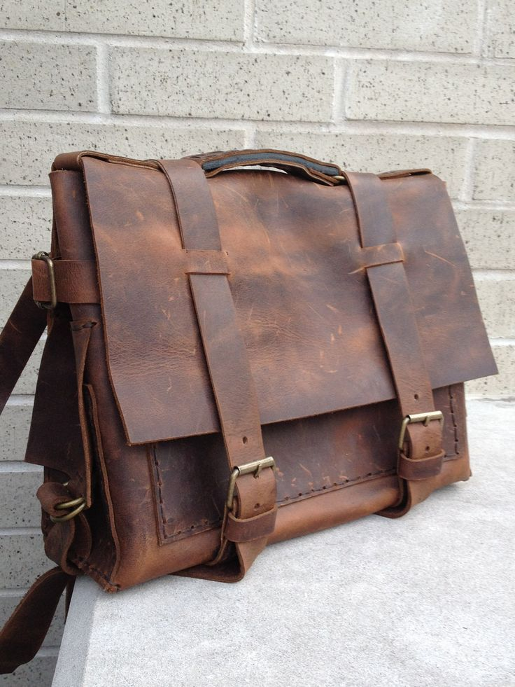 Leather lap top bag by Aixa on Etsy. $359.00, via Etsy.