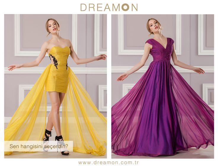 """Dreamon'un birbirinden özel modellerinden """"Sen Hangisini Seçerdin?""""  www.dreamon.com.tr  #gelinlik #gelinlikmodelleri #dreamongelinlik #dreamon #gelinlikler #geceelbisesi #abiyeelbise #bittersweet #kolleksiyon #martini #sarı #baileys #vişneçürüğü"""
