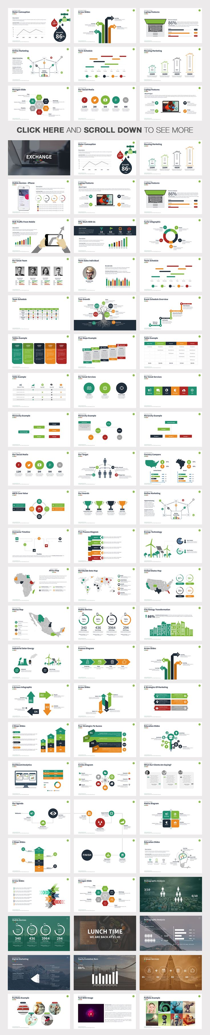 Exchange Powerpoint Template by Slidedizer on Creative Market