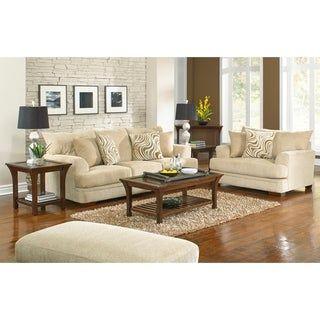 Sybil Sofa and Chair Living Room Set (Beige), Coja