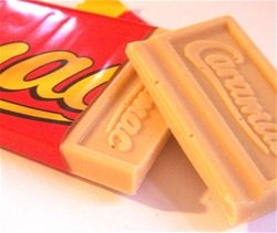 caramac, they used to sell these in an Easter Egg version, I haven't seen them for ages.