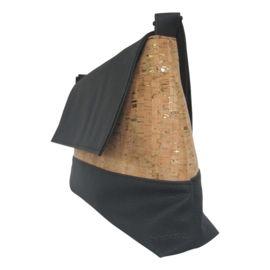 Black & cork leather whit silver. Handmade bag