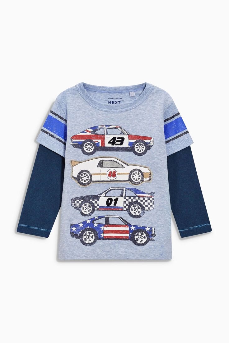 Buy Blue Skate Sleeve Car T-Shirt (3mths-6yrs) from the Next UK online shop