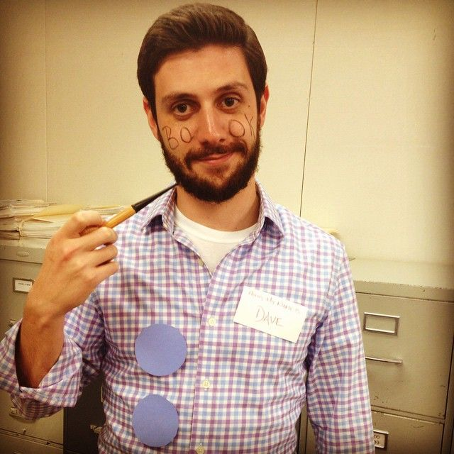 Three-Hole Punch Jim / Hello, My Name is Dave / BookFace / PopEye after he leaves the navy and gets a desk job in corporate America. #jimhalpert #theoffice #happyhalloween