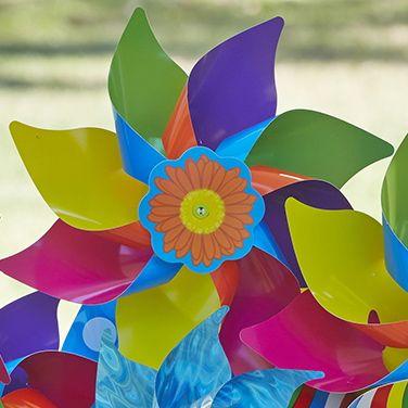 Rainbow Swirly #whirlywindmills #rainbow #colour #party #decoration