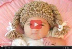 Como tejer con ganchillo gorro diseño peluca de muñeca para bebe paso a paso