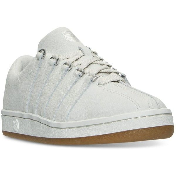 K-Swiss Women's The Classic 88 P Casual Sneakers from Finish Line ($35) ❤ liked on Polyvore featuring shoes, sneakers, k swiss footwear, k swiss trainers, k swiss shoes, tenny shoes and tennis sneakers