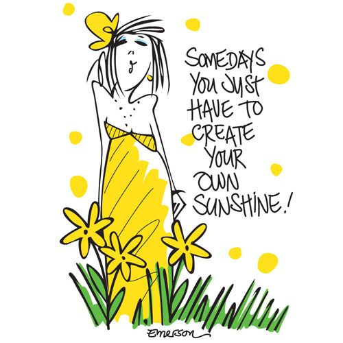 "Emerson Street ""Some Days You Just Have to Create Your Own Sunshine!"" Nightshirt in a Bag $28 - The Pajama Company"
