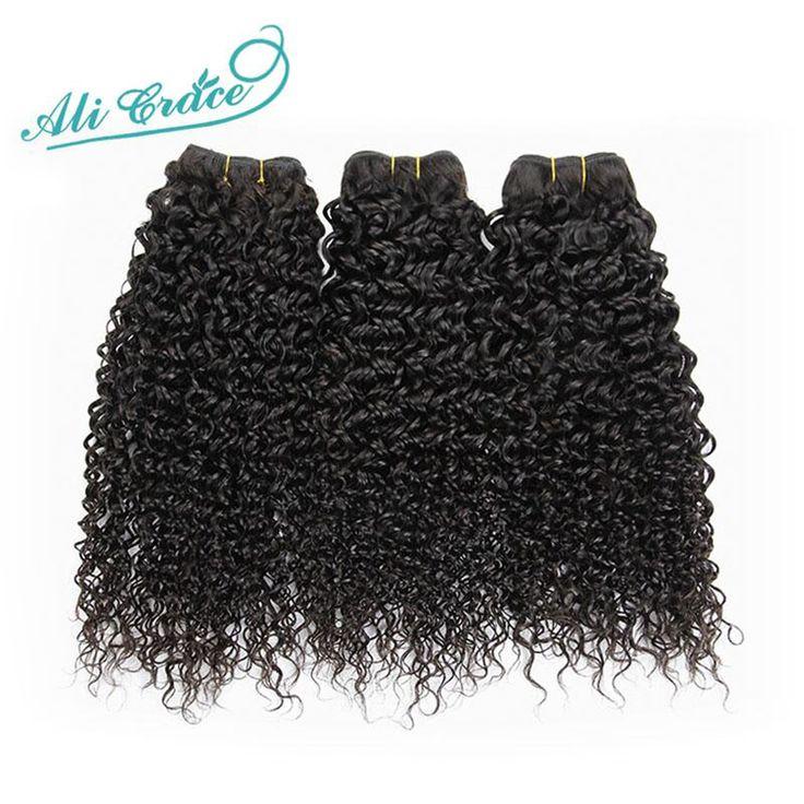 Ali Grace Haarproducten Braziliaanse Virgin Haar Kinky Krullend 3 STKS, 8A Onverwerkte Afo Kinky Krullend Haar Braziliaanse Haar Weave Bundels