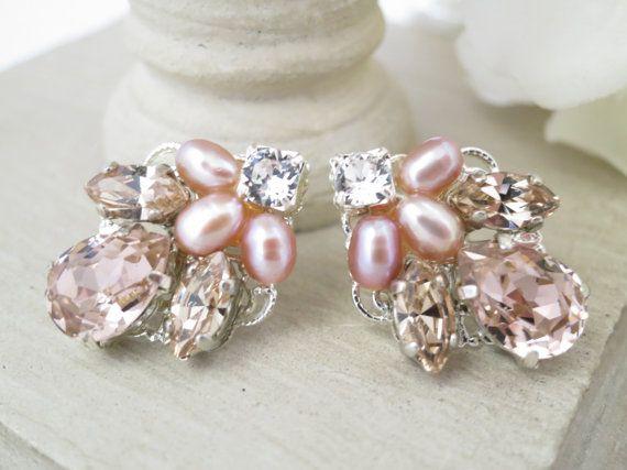 Hochzeit Ohrringe erröten post Hochzeit Ohrringe von BlingBaddaBoom