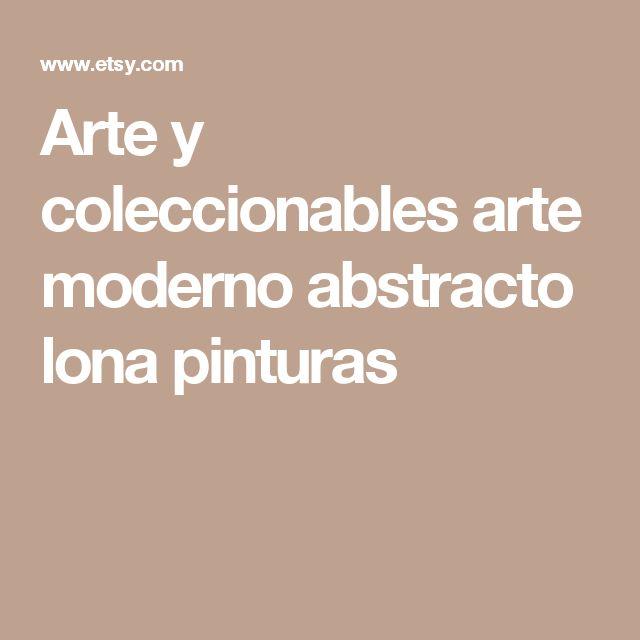 Arte y coleccionables arte moderno abstracto lona pinturas