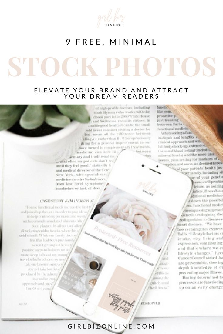 9 FREE minimal stock photos + iPhone mockups to elevate your brand!