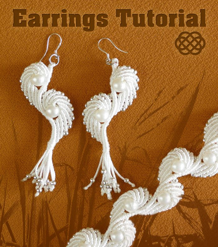 Macramé Angel Wings - Earrings Tutorial. #Macrame #Earrings #Tutorial http://youtu.be/cH24FQDzv7c