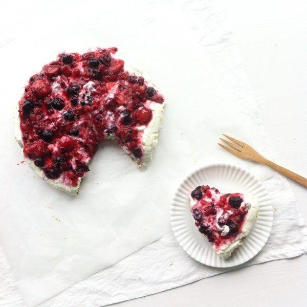 » Kwarktaart met rood fruit
