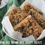Cinnamon-Oat Brown Rice Crispy Treats from Simply Sugar and Gluten Free via Attune Foods