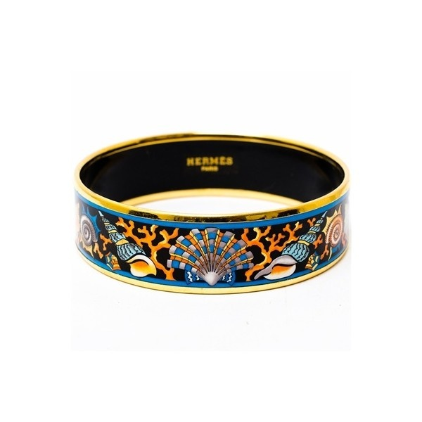 Hermes Bracelet Seass Wide Printed Enamel Pm Just My Style Bracelets