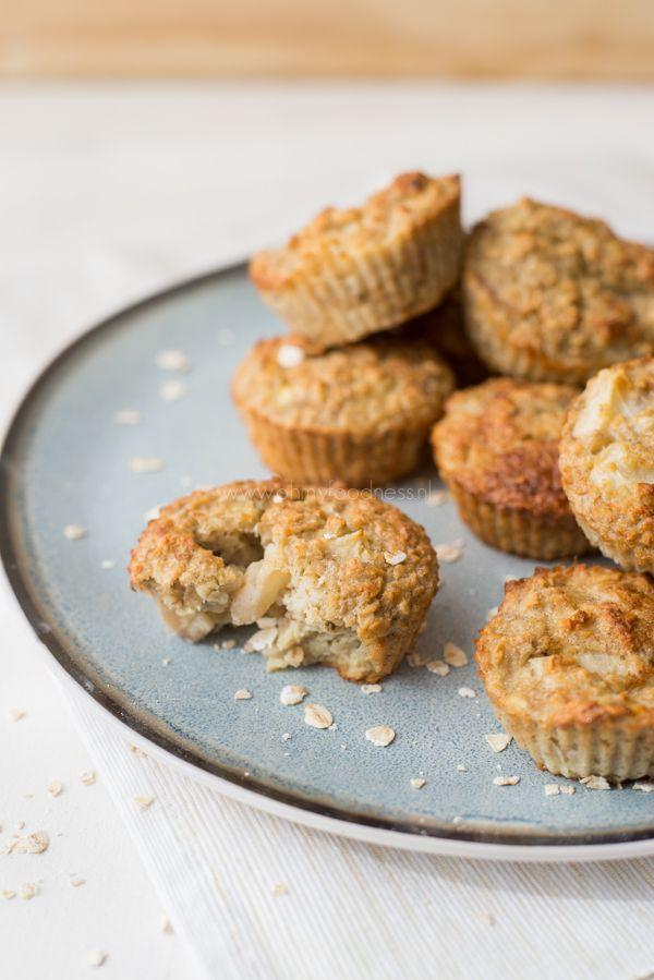 Havermoutmuffins met nectarine