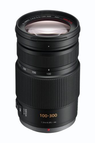 PANASONIC LUMIX G VARIO LENS, 100-300MM, F4.0-5.6 ASPH., MIRRORLESS MICRO FOUR THIRDS, MEGA OPTICAL I.S., H-FS100300 (USA BLACK)
