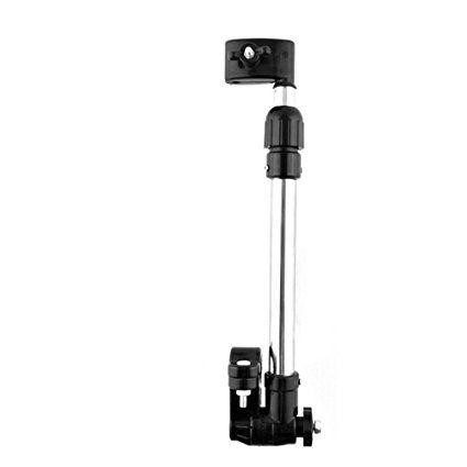 Gosear Barra de Paraguas de Giratoria de ángulo Ajustable Conector Clip Pinza para Bebé Silla de Paseo Silla de Ruedas Bicicletas