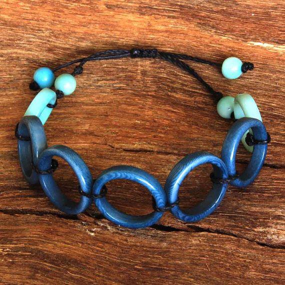 Navy Blue Bracelet  Circle Bracelet  One by ArtisansintheAndes