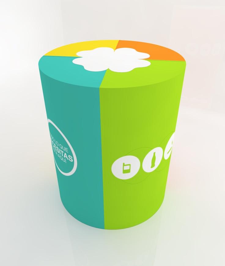 Modelado de kiosko 3D - iluminación y render vray + photoshop